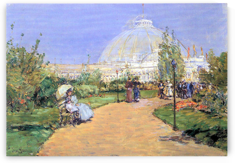 House of gardens, Worlds Columbian Exposition, Chicago by Hassam by Hassam