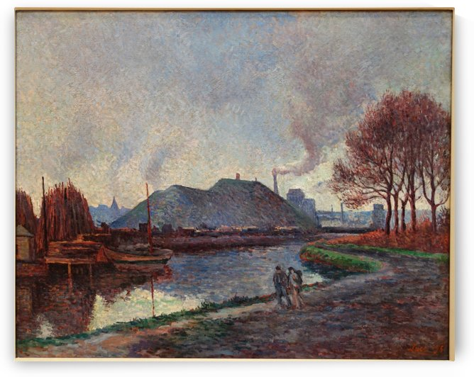 Landscape of the Riverbanks by Maximilien Luce