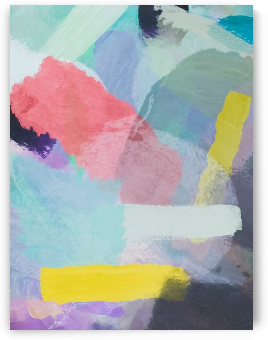 brush painting texture abstract background in pink blue yellow by TimmyLA