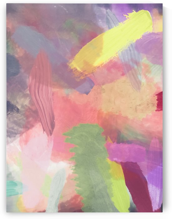 brush painting texture abstract background in pink purple yellow by TimmyLA