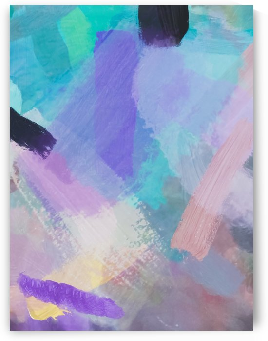brush painting texture abstract background in blue pink purple by TimmyLA