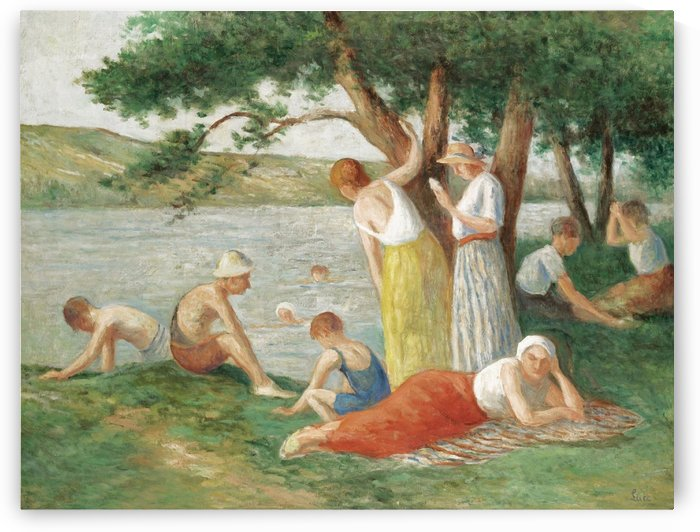 Bathing at Rolleboise by Maximilien Luce