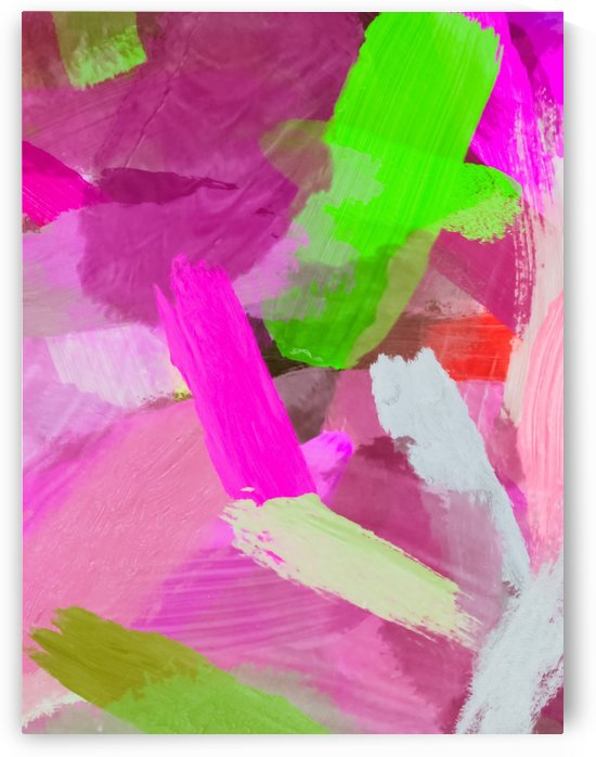 brush painting texture abstract background in pink green by TimmyLA