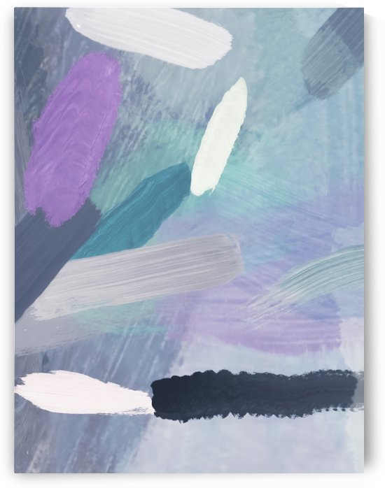brush painting texture abstract background in purple green black by TimmyLA