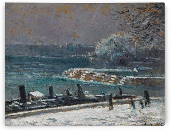 The Lock of the Bridge of Arts, Winter by Maximilien Luce