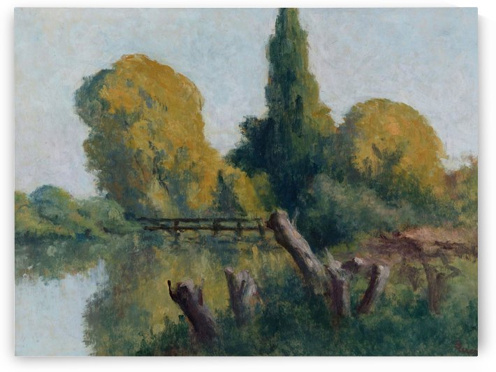 Rolleboise, Small Arm of the Seine in Autumn by Maximilien Luce