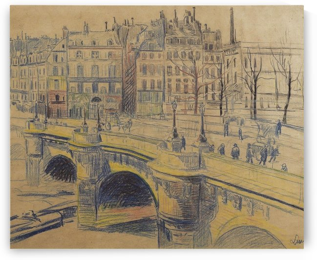 pont Neuf and the Quay of Conti by Maximilien Luce