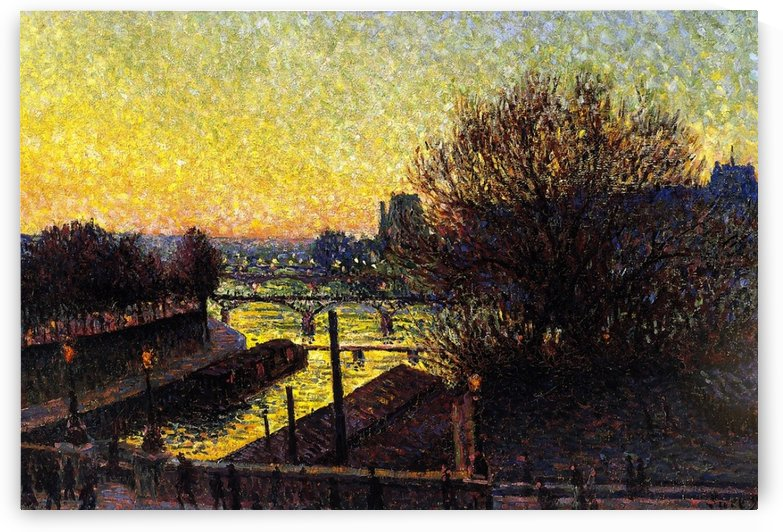 Quay of the Seine by Maximilien Luce