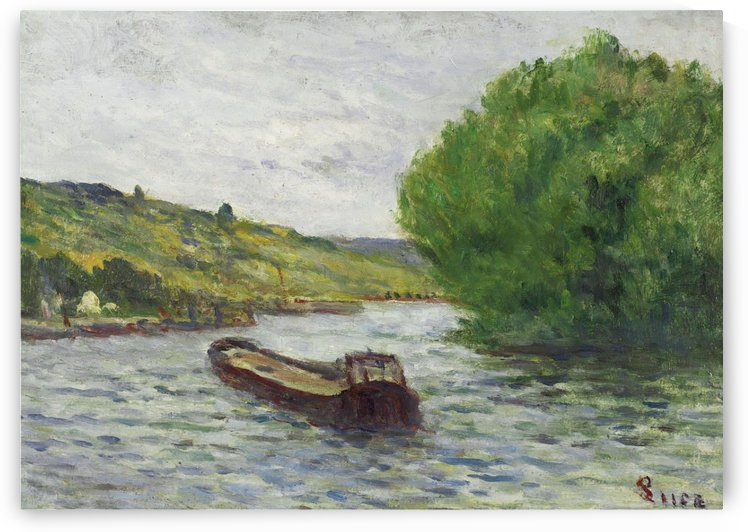 Rolleboise, Barge on the Seine by Maximilien Luce