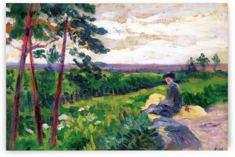 Landscape of Ile-de-France with a Figure by Maximilien Luce