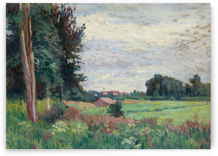 Landscape near Mereville by Maximilien Luce
