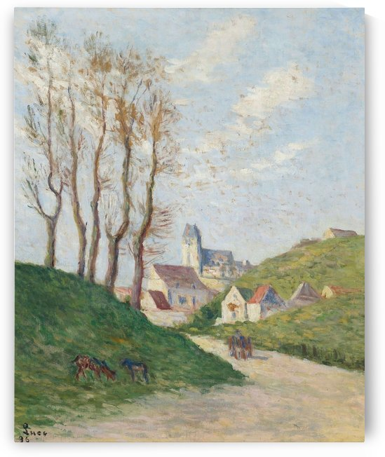 The Road with Goats Pasturing by Maximilien Luce