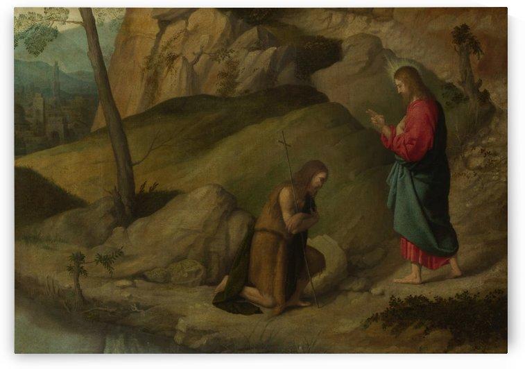 Christ blessing Saint John the Baptist by Moretto da Brescia