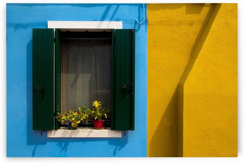 Colored windows in Burano by Pietro Ebner