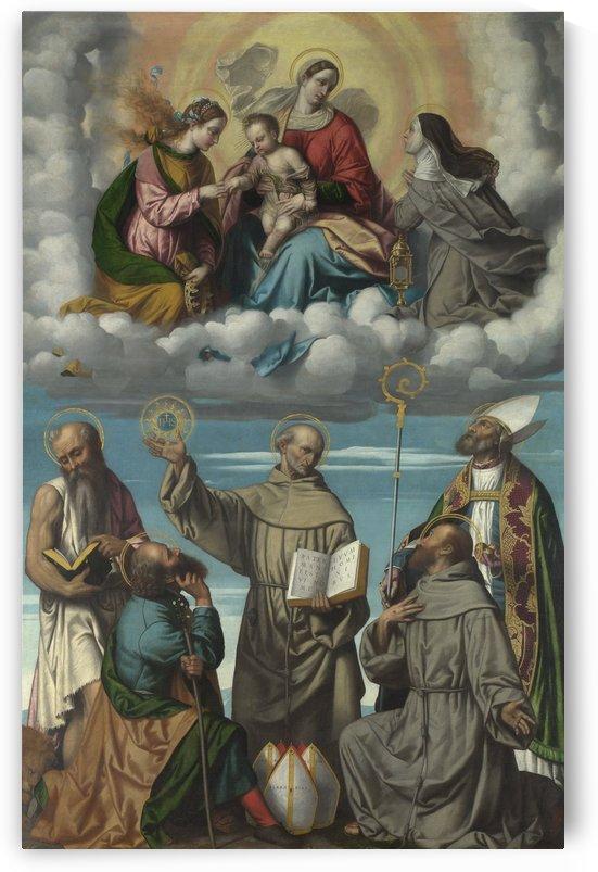 The Madonna and Child with Saints by Moretto da Brescia