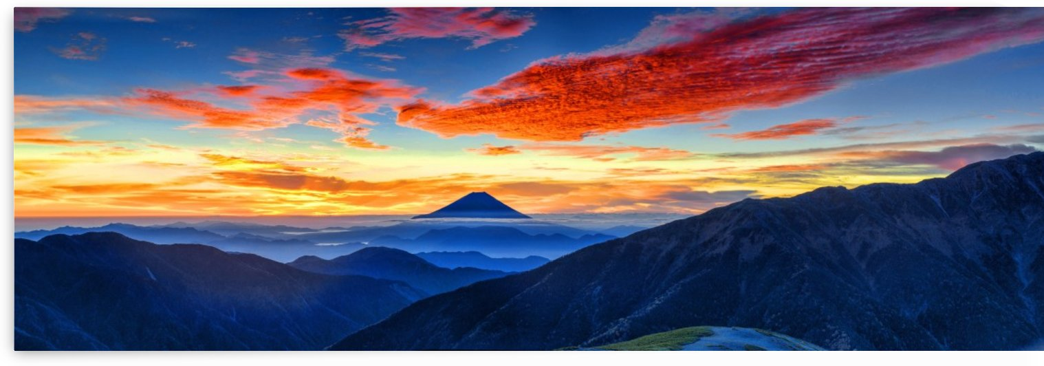 mount fuji, volcano, japan, morning glow, landscape, mt fuji, sunset, twilight, mountains, by fabartdesigns