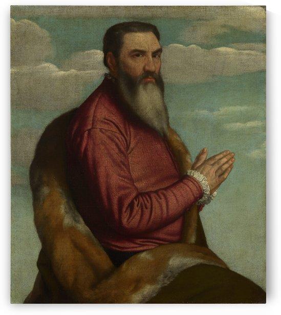 Praying Man with a Long Beard by Moretto da Brescia