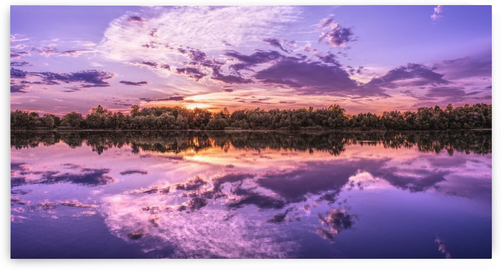 panorama, lake, sunset, background image, wallpaper, nature, waters, landscape, clouds, mood, reflection, atmospheric, atmosphere, dusk, romantic, dramatic, afterglow, summer by fabartdesigns