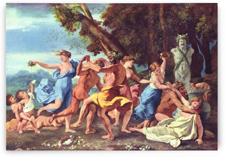 A Bacchanalian Revel before a Term by Nicolas Poussin
