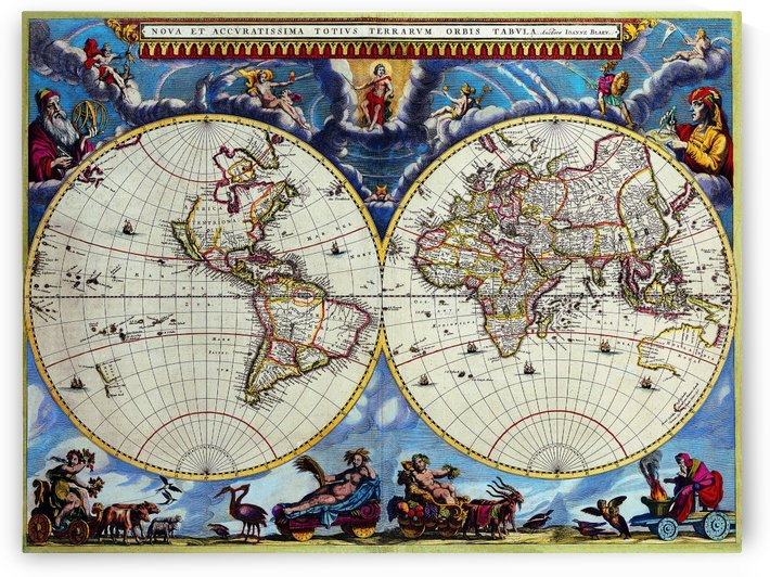 Antique map old map history globe earth maps historical map drawing old map of the world  by fabartdesigns
