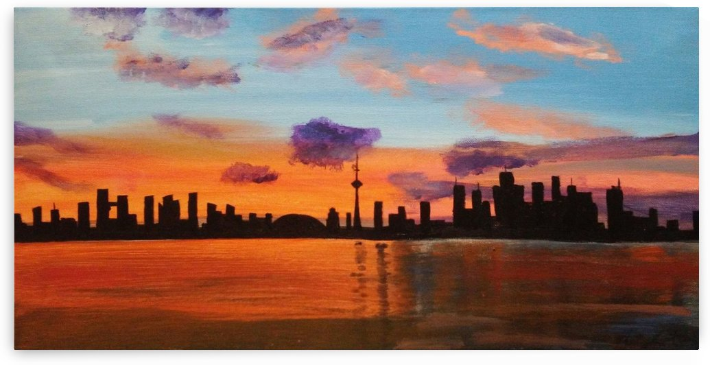 Good Evening Toronto by Ninabana Art Studio