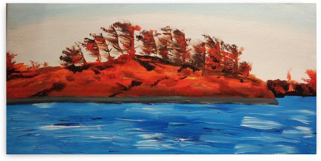 Crimson Rock by Ninabana Art Studio