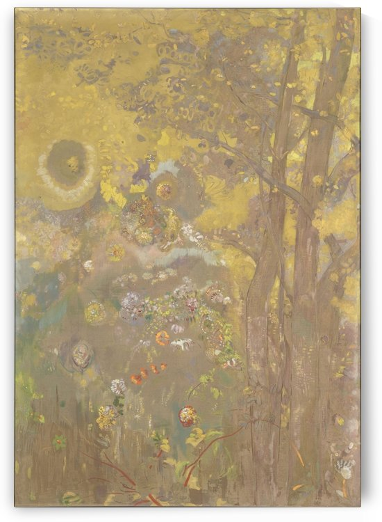Trees in Bieevres by Odilon Redon