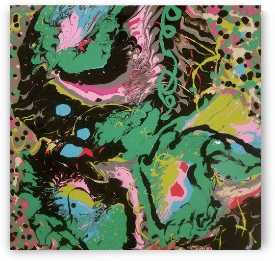 Fantasy Noir Green by Ann Davis Art