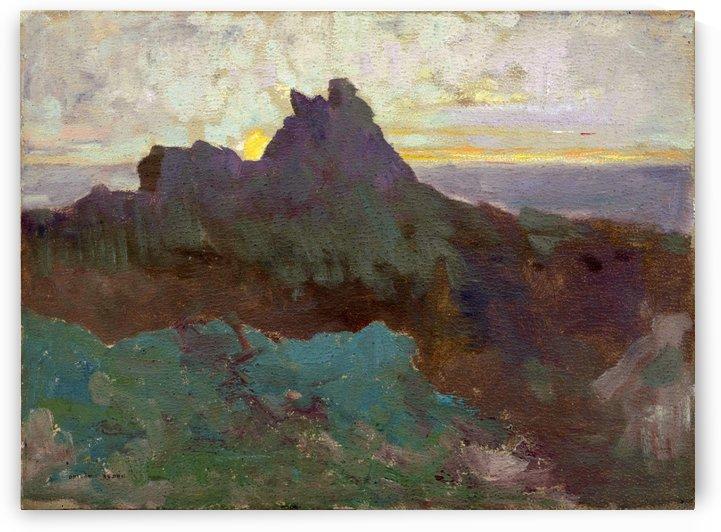 Rocky Peak by Odilon Redon