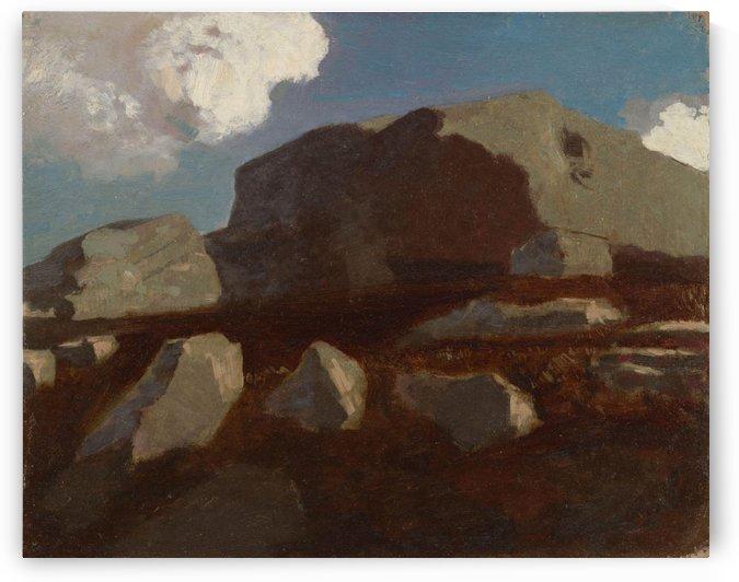Landscape with Rocks, near Royan by Odilon Redon