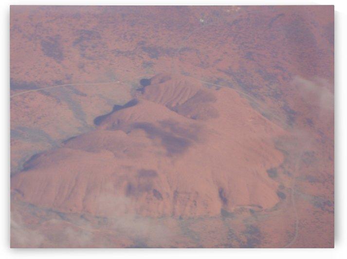 Uluru from Above by Ninabana Art Studio