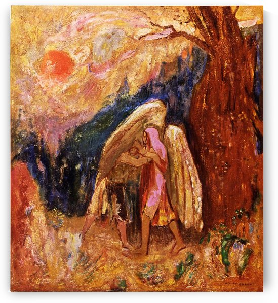 Jacob and the Angel by Odilon Redon