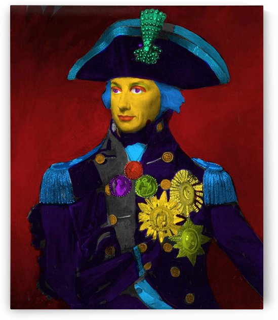 Horatio Nelson Pop Art by Matthew Lacey