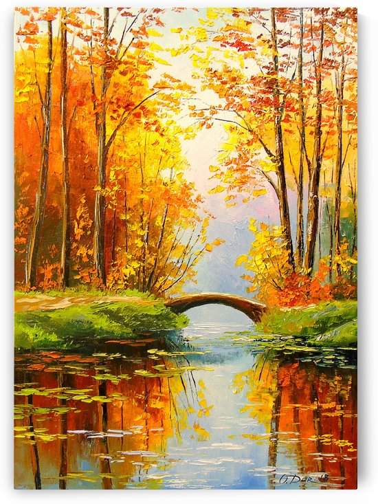 The bridge on the pond by Olha Darchuk