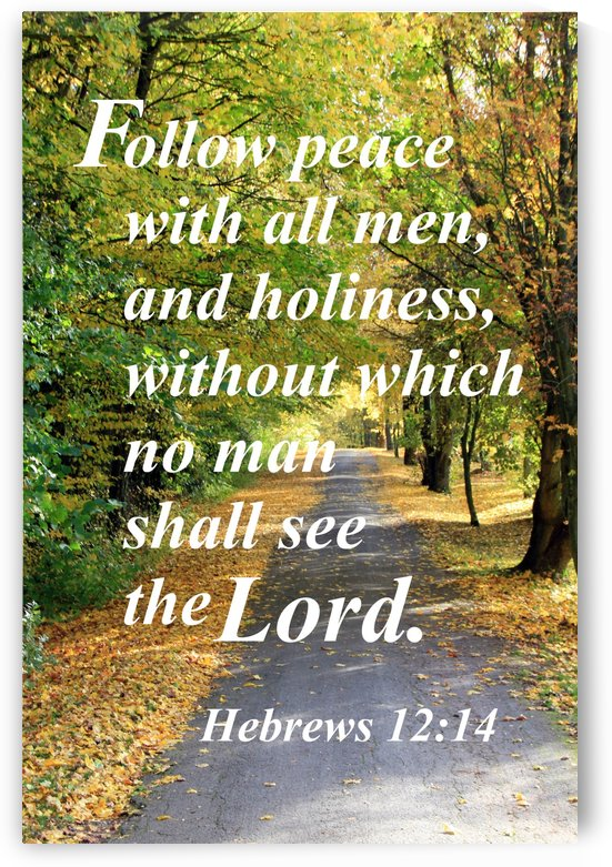 Follow peace with all men by Edifying Designs