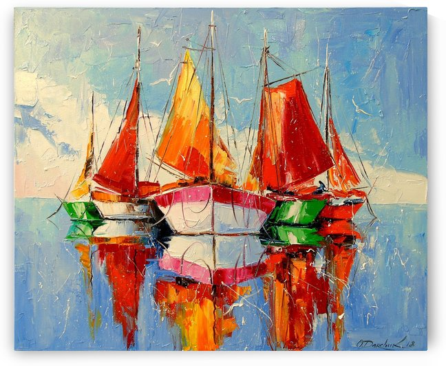 Boats in the morning by Olha Darchuk