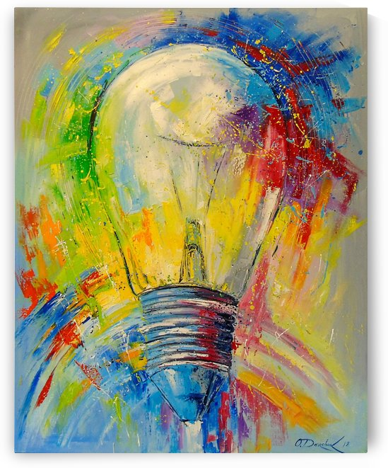 Light bulb by Olha Darchuk