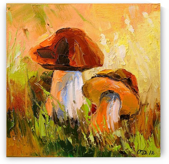 White mushrooms by Olha Darchuk