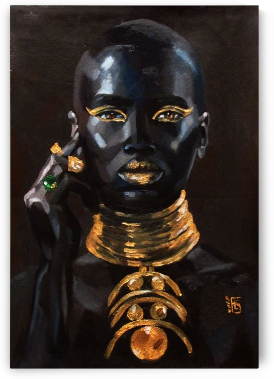 In gold by Kateryna Bortsova