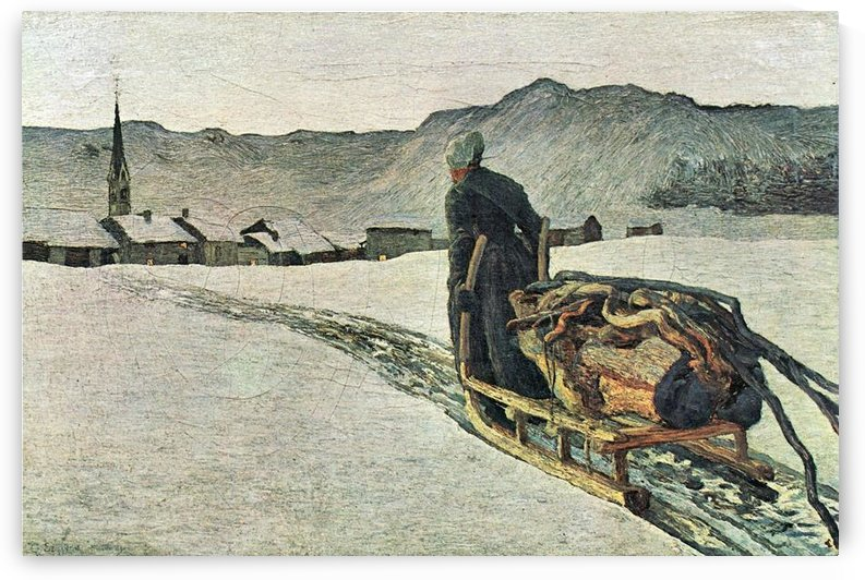 Return from the forest by Giovanni Segantini by Giovanni Segantini