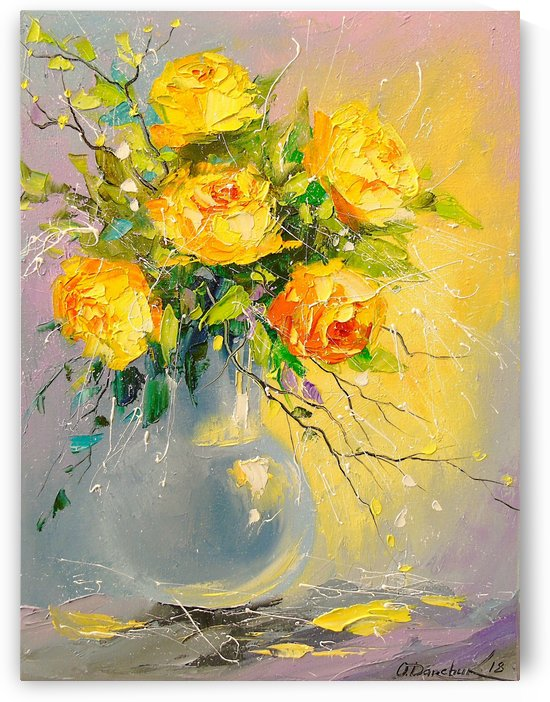 A bouquet of yellow roses by Olha Darchuk
