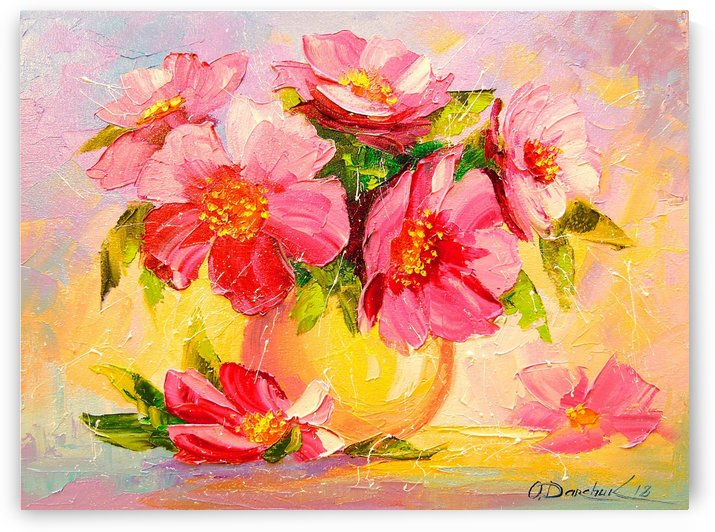 A bouquet of pink flowers by Olha Darchuk