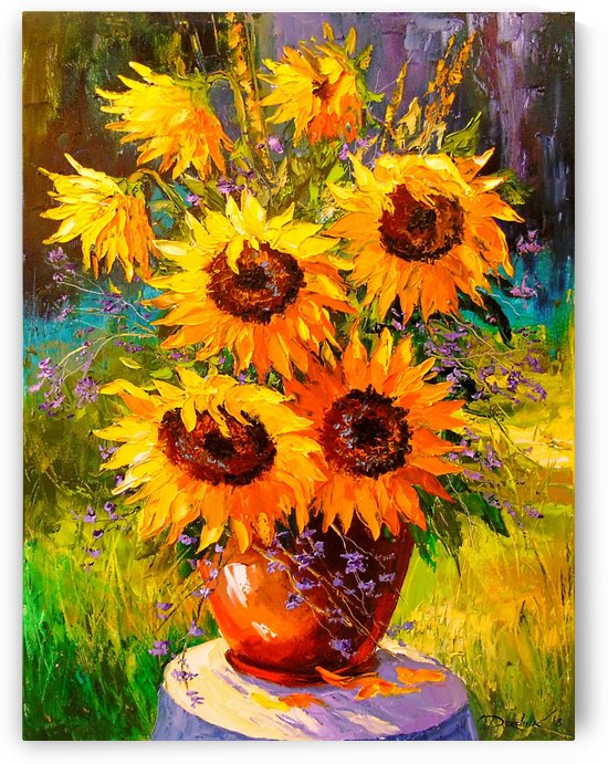 A bouquet of sunflowers by Olha Darchuk