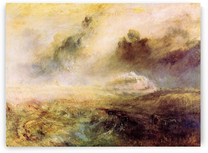 Rough Seas with wreckage by Joseph Mallord Turner by Joseph Mallord Turner