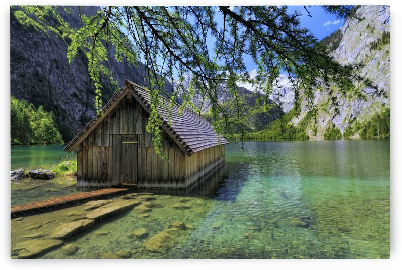 Lake Obersee Boathouse by Alex Galiano