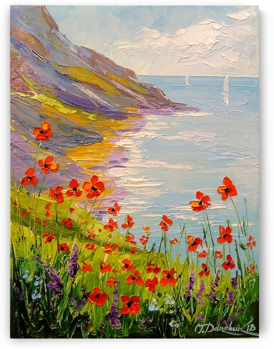 Poppies on the beach by Olha Darchuk