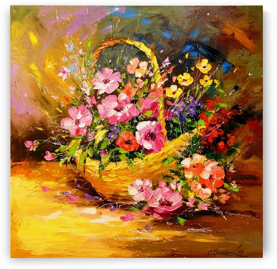 Basket with flowers by Olha Darchuk