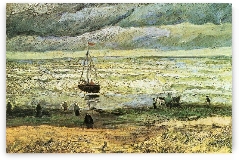 Scheveningen beach in stormy weather by Van Gogh by Van Gogh
