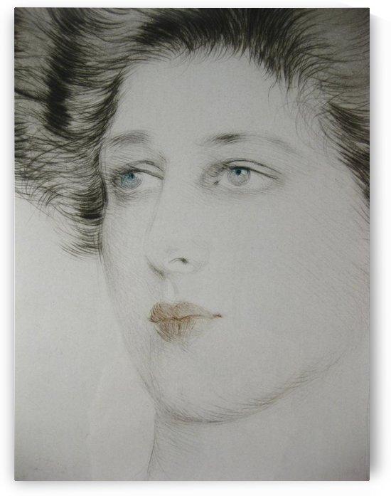 Portrait of a Woman 01 by Paul Cesar Helleu