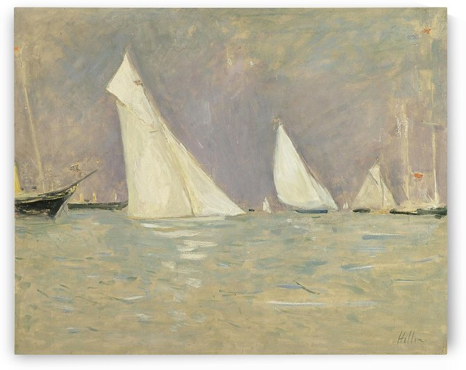 Floating Sailers at Cowes by Paul Cesar Helleu